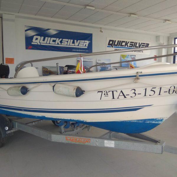 embarcacion quicksilver 440 fish con consola bote con motor mercury 25cv y remolque incluido nuevo de 2020 sonda vhf