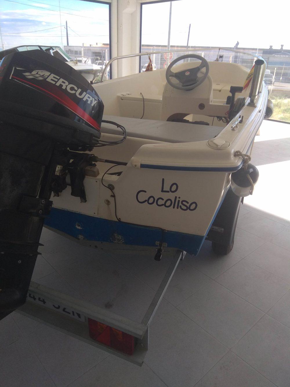 embarcacion quicksilver 440 fish bote con motor mercury 25cv yremolque incluido sonda vhf