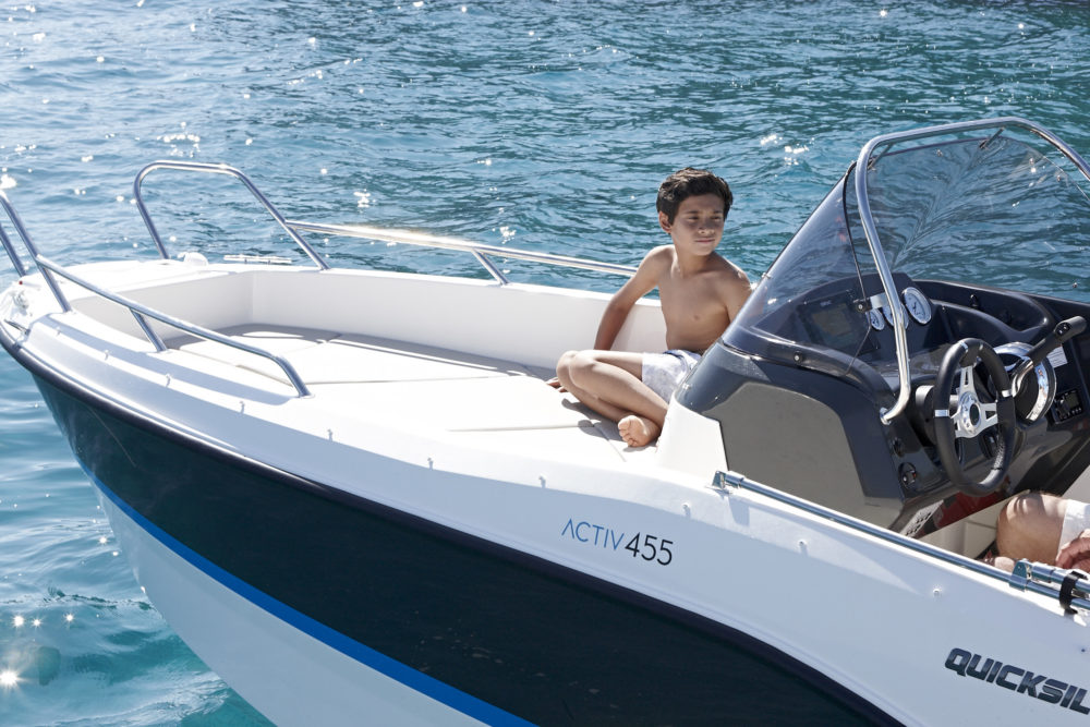 oferta cupon descuento salon nautico barcelona 2021 embarcacion quicksilver activ 455 open mercury 50cv